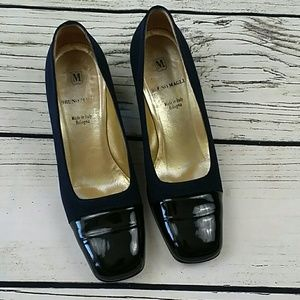 Vintage Bruno Magli 2 inch heel dress shoe
